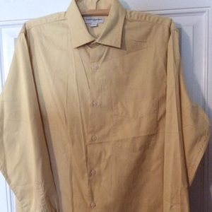 Banana Republic men's long sleeve yellow shirt